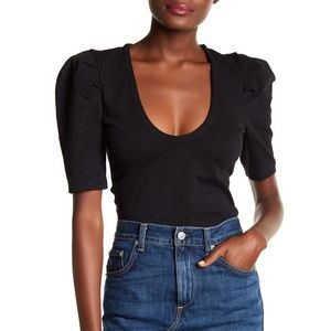 Free People Ellery Puff Sleeve Top